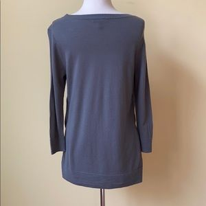J. Crew Sweaters - J. Crew Gray Side Slit Seam Tunic Sweater